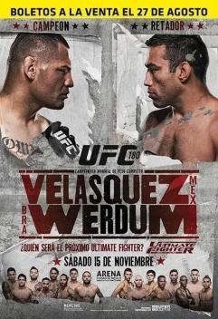 UFC 180 poster